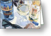 Wine  Greeting Cards - At the Beach  Greeting Card by Christopher Mize