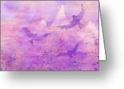 Heaven Digital Art Greeting Cards - At the doorsteps of God Greeting Card by Rachel Christine Nowicki