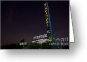 Cultivated Landscapes Greeting Cards - At the Drive In Movie Theater  Greeting Card by Keith Kapple