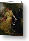Cameron Greeting Cards - At The First Touch of Winter Summer Fades Away Greeting Card by Valentine Cameron Prinsep