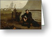 Encampment Greeting Cards - At the Front Greeting Card by George Cochran Lambdin
