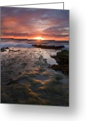 San Diego Greeting Cards - At the Horizon Greeting Card by Mike  Dawson