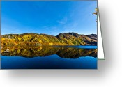 Canon 5d Mk2 Greeting Cards - At the lake Greeting Card by Frank Olsen