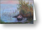 Florida Living Greeting Cards - At The Lake Greeting Card by Patty Weeks