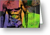 Body Posters Mixed Media Greeting Cards - At The Right Mood Greeting Card by Mark Ashkenazi