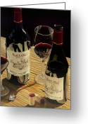 Wine Bottle Prints Greeting Cards - At The Right Time Greeting Card by Brien Cole