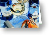 Trumpet Glass Greeting Cards - At the Rivah Greeting Card by Christopher Mize