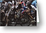 Bike Riding Greeting Cards - At the Starting Gate Greeting Card by Steven  Digman