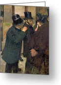 Wall Street Painting Greeting Cards - At the Stock Exchange Greeting Card by Edgar Degas
