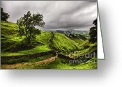 English Countryside Print Greeting Cards - At The Top Of Cavedale Greeting Card by Darren Burroughs