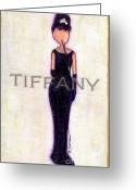 Little Girls98 Greeting Cards - At Tiffanys Greeting Card by Ricky Sencion