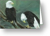 Eagle Prints Greeting Cards - At Your Service Greeting Card by Jamie Hartley