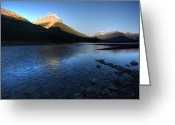 Snow Capped Digital Art Greeting Cards - Athabasca River in Jasper National Park Greeting Card by Mark Duffy