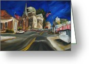 Artist Greeting Cards - Athens AL Greeting Card by Carole Foret