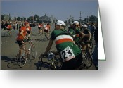 Tour De France Greeting Cards - Athletes From Many Countries Await Greeting Card by Justin Locke