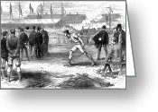 Runner Photo Greeting Cards - Athletics: Shot Put, 1875 Greeting Card by Granger