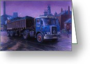Coal  Greeting Cards - Atkinson bulk coal tipper Greeting Card by Mike  Jeffries