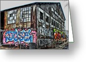 Convention Photography Atlanta Greeting Cards - Atlanta Graffiti Warehouse Greeting Card by Corky Willis Atlanta Photography