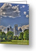 Photographers Ellipse Greeting Cards - Atlanta Piedmont Park View Greeting Card by Corky Willis Atlanta Photography