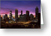 Cityscape Digital Art Greeting Cards - Atlanta Skyline Greeting Card by Byron Fli Walker