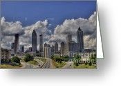 Photographers Ellipse Greeting Cards - Atlanta Skyline Greeting Card by Corky Willis Atlanta Photography