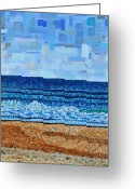 Carolina Painting Greeting Cards - Atlantic Beach in July Greeting Card by Micah Mullen