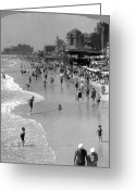 Sunbathing Greeting Cards - ATLANTIC CITY, 1920s Greeting Card by Granger
