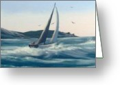 Co Galway Greeting Cards - Atlantic Fury Greeting Card by Cathal O malley