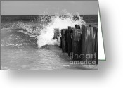 Jersey Shore Greeting Cards - Atlantic Fury Greeting Card by Kristi Jacobsen