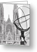 Fifth Greeting Cards - Atlas and the Cathedral Greeting Card by Vicki Jauron
