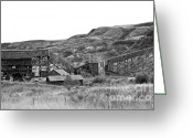 Drumheller Greeting Cards - Atlas Coal Mine Greeting Card by Meaghan Grant