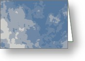 Grey Clouds Digital Art Greeting Cards - Atmosphere 3 Greeting Card by Marianne Beukema