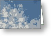 Grey Clouds Digital Art Greeting Cards - Atmosphere Greeting Card by Marianne Beukema