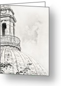 Cityhall Greeting Cards - Atop Greeting Card by Lourry Legarde