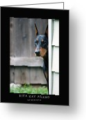 Dobe Greeting Cards - Attentive Greeting Card by Rita Kay Adams