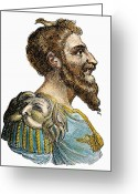 Barbarian Greeting Cards - Attila, King Of The Huns Greeting Card by Granger