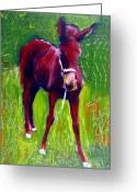Abstract Horse Pyrography Greeting Cards - Attitude Greeting Card by Michael Ballew