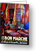 Rugs Greeting Cards - Au Bon Marche Greeting Card by Tom Roderick