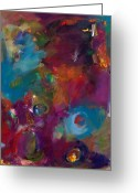 Contemplative Greeting Cards - Aubergine Mist Greeting Card by Johnathan Harris