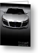 Super Car Greeting Cards - Audi R8 Sports Car Greeting Card by Oleksiy Maksymenko