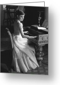Personality Greeting Cards - Audrey Hepburn Greeting Card by George Daniell and Photo Researchers