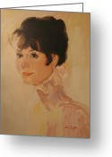 Realistic Greeting Cards - Audrey Hepburn Greeting Card by Tigran Ghulyan