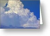 Photographs Digital Art Greeting Cards - August Monsoon Clouds Greeting Card by Methune Hively