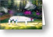 Miki Golf Art Greeting Cards - Augusta Masters 2010 02 Greeting Card by Miki De Goodaboom