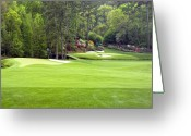 National Greeting Cards - Augusta National Golf Club Amen Corner Greeting Card by Phil Reich