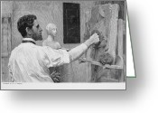Relief Work Photo Greeting Cards - Augustus Saint-gaudens Greeting Card by Granger