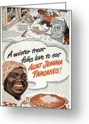 Aunt Greeting Cards - Aunt Jemima Ad, 1948 Greeting Card by Granger