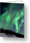 Aurora Borealis Greeting Cards - Aurora Borealis Corona Greeting Card by John Hemmingsen
