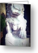 Forbidden City Greeting Cards - Auspicious Lion female Greeting Card by Stephanie Tso