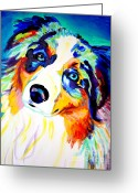 Shepherd Painting Greeting Cards - Aussie - Moonie Greeting Card by Alicia VanNoy Call